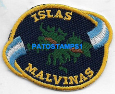 160436 ARGENTINA UK ISLAS MALVINAS FALKLAND ISLANDS EMBROIDERED PATCH NO POSTAL POSTCARD - Non Classificati
