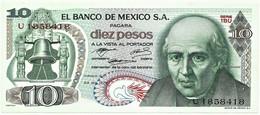 Mexico - 10 Pesos - 29.12.1972 - Pick 63.e -  Serie 1BU - M. Hidalgo Y Castilla - Mexico