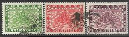 Nepal  1929  Sc#31-3  Used    2016 Scott Value $7.25 - Nepal