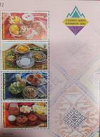 O) 2003 THAILAND, FOODS, TABLECLOTH, BANGKOK 2003 WORLD PHILATELIC EXHIBITION, CULTURE,  MNH - Thailand
