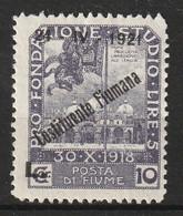 FIUME - N°158 * (1921) - Fiume
