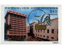 Ref. 40714 * MNH * - DOMINICANA. 1997. 50th ANNIVERSARY OF THE CENTRAL BANK . 50 ANIVERSARIO DEL BANCO CENTRAL - Coches