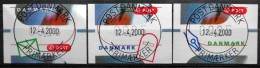 Denmark  2000    MiNr.11-13  (O)   ( Lot  Ks 1083) - Marcofilia - EMA ( Maquina De Huellas A Franquear)