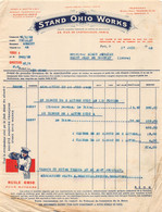18401  5-1355   Facture  1932  STAND OHIO WORKS A PARIS - M. PERRIER A SAINT JEAN DE BOURNAY - 1900 – 1949