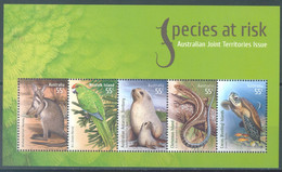 AUSTRALIA - MNH/*** LUXE - 2009 - SPECIES AT RISK - Yv BLOC 119 - Lot 23489 - Blocks & Sheetlets