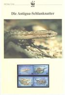 Antigua & Barbuda 2002 - WWF Die Antigua-Schlanknatter - Komplettes Kapitel Postfrisch MK FDC - Unclassified