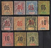 SAINT-PIERRE ( POSTE ) : Y&T N°  94/104  TIMBRES  NEUFS  SANS  TRACE  DE  CHARNIERE  ET  OBLITERES . A  SAISIR . - Unused Stamps