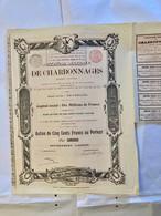 Sté  Générale  De  CHARBONNAGES  -------- ------- Action  De  500 Frs - Bergbau