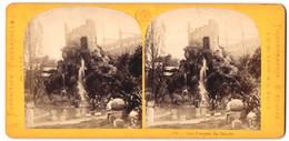 Stereo-Fotografie M. Leon & J. Levy, Ort Unbekannt, Ausstellung Paris, Paro Francais, La Cascade - Stereoscopic