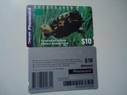AUSTRALIA  USED CARDS TURTLES - Tartarughe