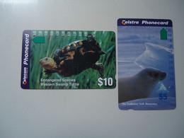 AUSTRALIA  USED CARDS TURTLES SEAL - Tartarughe