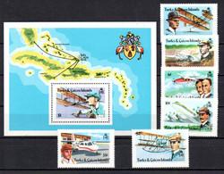 T1-23 Turks & Caicos N° 402 à 407 + BF 11 **  A Saisir !!!  Avions - Turks And Caicos