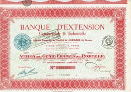 75-BANQUE D'EXTENTION COMMERCIALE & INDUSTRIELLE. - Other