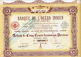 75-BANQUE DE L'OCEAN INDIEN.   Lot De 10 - Other