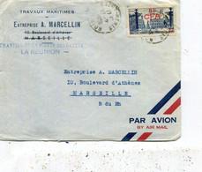 LETTRE  DE La REUNION - Storia Postale