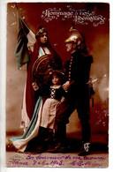 REF 555 : Cpa Patriotique Militaria Soldat  Alsace Hommage à Nos Libérateurs Alsacienne Alsace - War 1914-18
