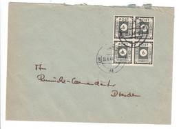 SBZ , Nr 43 , Viererblock Auf Umschlag - Zone Soviétique