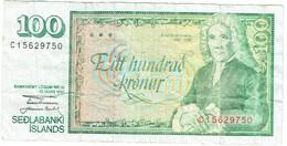 Islande - Billet De 100 Kronur - Arni Magnusson - 29 Mars 1961 (1981) - P50a - Islanda