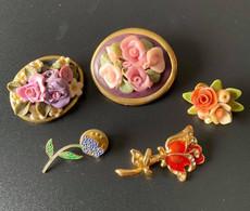 5 Bloemen Brochen - Sommige Vintage - Unclassified
