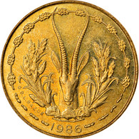 Monnaie, West African States, 5 Francs, 1986, TTB, Aluminum-Nickel-Bronze, KM:2a - Elfenbeinküste