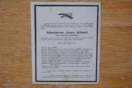 4896/Mme Jean ALBERT Née Thérèse SOLHEID/GAZON/ABINET/LERHO/SERVAIS/DANDRIFOSSE/XHOFFRAIX-MALMEDY-MONT - Décès