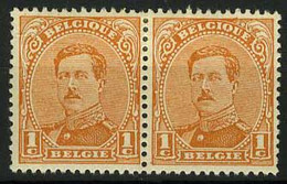 België 135A * - Koning Albert I - Roi Albert I - 1c Oranje - Type II - 1914-1915 Rode Kruis