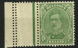België 137B ** - Koning Albert I - Roi Albert I - 5c Groen - Type III - 1914-1915 Rode Kruis