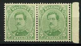 België 137C * - Koning Albert I - Roi Albert I - 5c Groen - Type IV - 1914-1915 Rode Kruis