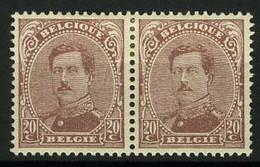 België 140C * - Koning Albert I - Roi Albert I - 20c Paars - Type IV - 1914-1915 Rode Kruis