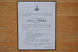 4897/Klemens THUNUS Pfarrer I.R.-DETHIER-WELSCH-RöHL-Bévercé-Robertville-Bra-s-Lienne-Büllingen-Ecaussines-Ovifat-Bütgen - Décès