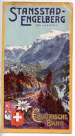 REF TMB : Dépliant Promotionnel Ancien Stansstad Engelberg Bei Luzern Elektrische Bahn Chemin De Fer Suisse 1907 - Dépliants Touristiques