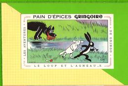 BUVARD & Blotting Paper : Pain D'Epices GRINGOIRE  .Fables De La Fontaine : Le Loup Et L' Agneau - Gingerbread