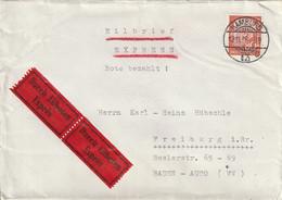 Allemagne Lettre Par Exprès Hamburg 1958 - Covers & Documents