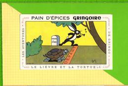 BUVARD & Blotting Paper : Pain D'Epices GRINGOIRE  .Fables De La Fontaine : Le Lievre Et La Tortue - Gingerbread