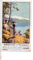 REF TMB : Dépliant Promotionnel Ancien Chemin De Fer Suisse 1908 Brienz Rothorn Bahn - Dépliants Touristiques