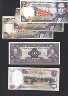 LOT BILLET  VENEZUELA 1000 50 X3 ET 10 - Venezuela