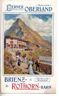 REF TMB : Dépliant Promotionnel Ancien Chemin De Fer Suisse 1906 Brienz Rothorn Bahn - Dépliants Touristiques
