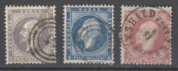 Norwegen 1856/57 , Nr 3-5 Gestempelt - Used Stamps