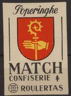 Poperinghe Poperinge Etiquette Allumette Matchbox Label 1960 - Matchbox Labels