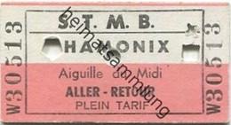 Frankreich - Telepherique - S. T. M. B. Chamonix Aiguille Du Midi - Fahrkarte - Europa