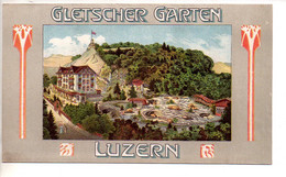 REF TMB : Dépliant Promotionnel Ancien Suisse Switzerland Schweiz Gletscher Garten Luzern (vers 1910) Labyrinth - Dépliants Touristiques