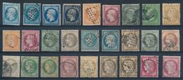 FRANCE - Sélection Nr 915 - Timbres Classiques (1854-1872) - Gestempeld/oblitéré - Cote 460,00 € - Collections