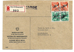 CH435 / SCHWEIZ - Dienstbrief 1905, Ernährungsamt (Sezione Delle Merci), Bern Nach Luzern - Covers & Documents