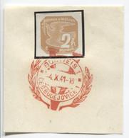 Böhmen Und Mähren 4.10.41 Sonderstempel 59 Briefstück, Budweis Viktoria - Briefe U. Dokumente