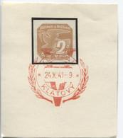Böhmen Und Mähren 24.10.41 Sonderstempel 62 Briefstück, Klattau Viktoria - Briefe U. Dokumente