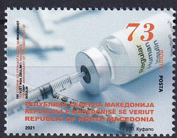 MACEDONIA NORTH 2021, 100 Years Anniversary Discovery Of Insulin Science Medicine,MNH - Disease