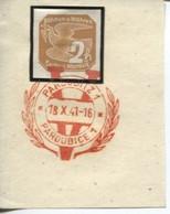 Böhmen Und Mähren 18.10.41 Sonderstempel 66 Briefstück, Pardubitz Viktoria - Briefe U. Dokumente