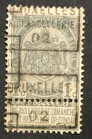 PREO 411 C BRUXELLES R. CHANCELLERIE 02 - Meervoudige Opdruk - Rolstempels 1900-09