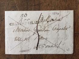 LAC - 1820 -Postée De 50 ARC CHATEAU-VILAIN - 1801-1848: Precursors XIX