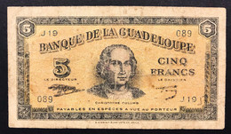 Guadalupe 5 Francs 1942 Pick#21  LOTTO 161 - Other - America